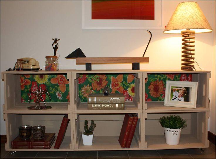 ideias para reutilizar caixotes de madeira na decorao