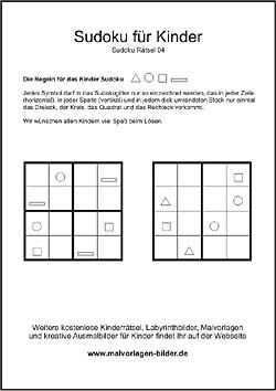 Sudoku - Kinder Rätse