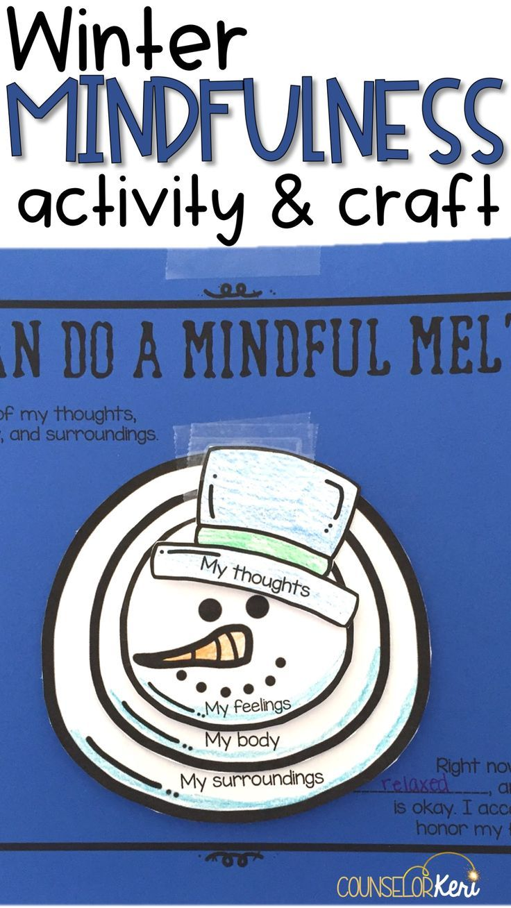 Needing a little refocus before the winter holiday break? Use this classroom guidance lesson to help students refocus and increase awareness with a fun mindfulness exercise! Students participate in the mindfulness activity and then create a melted snowman craft to represent their mindfulness observations.