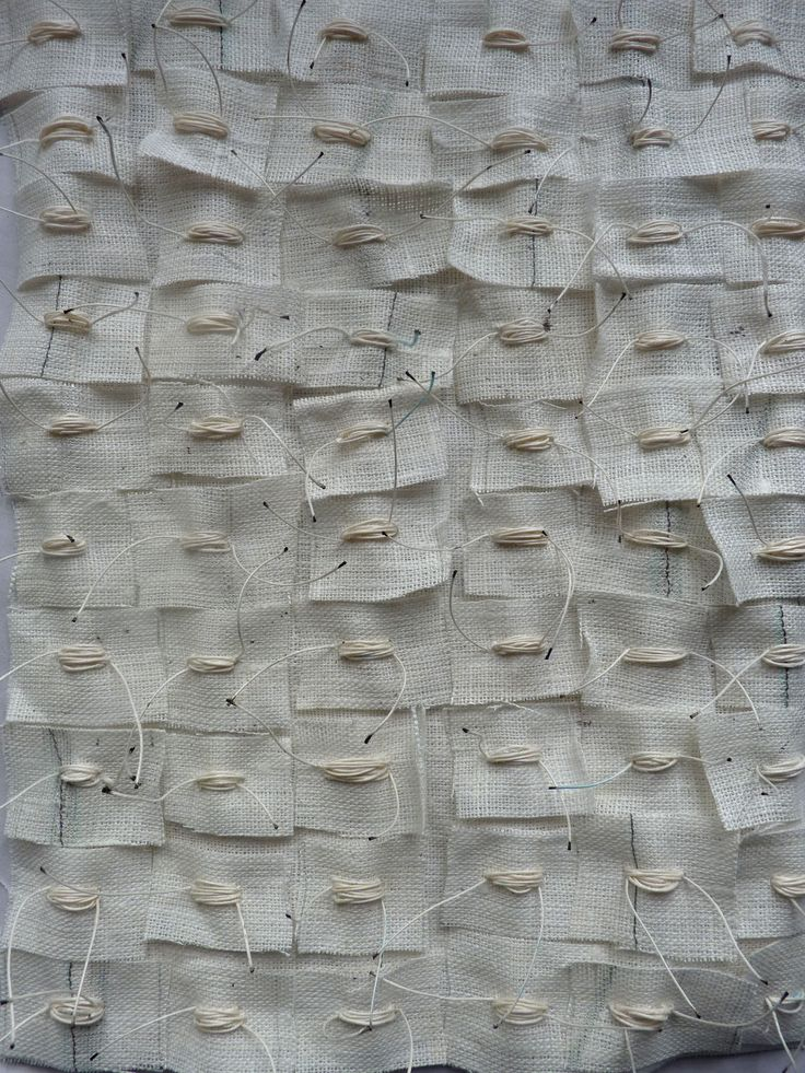 Textiles Surface Design - white textures, fabric & stitch, pattern & textures, raw edges & layering; surface creation inspiration // Debbie Lyddon