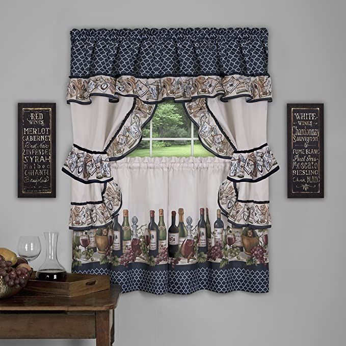 Cappuccino Embellished Cottage Curtain Set In 2020 Cottage