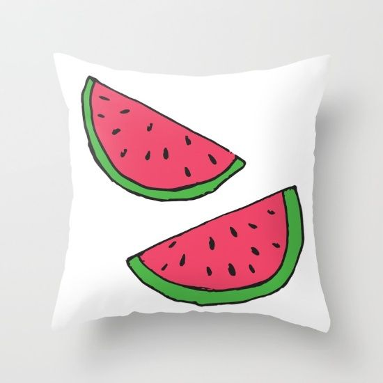 Golden Ace. Society6. Watermelon throw pillow. Great stuff by this artist!