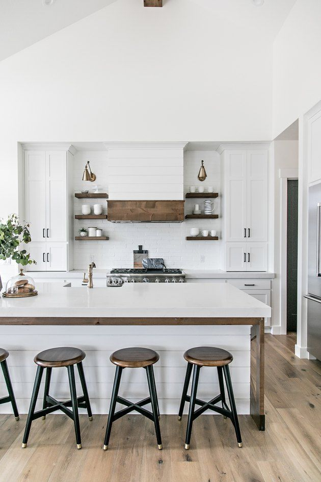 Kitchen Island Back Panel Ideas Have Probably Never Crossed Your Mind But They Should Hunker In 2020 Farmhouse Kitchen Decor Modern Farmhouse Kitchens Kitchen Style