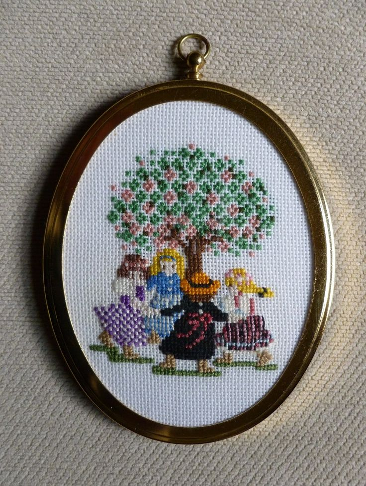My cross stitch picture done on fine aida,  1990.   One of a set of two.   Made by Jennifer Johnston.