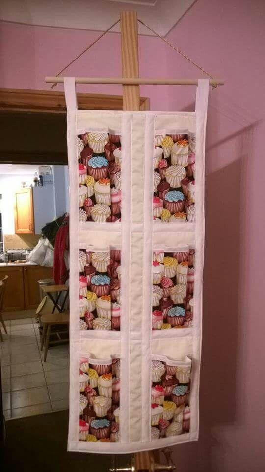 Cupcake door hanging tidy - both practical and decorative!