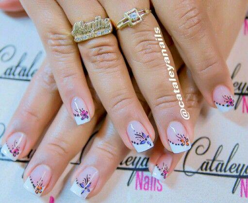 #Nails #decoradas #french #uñas #francesa #cataleya #nails