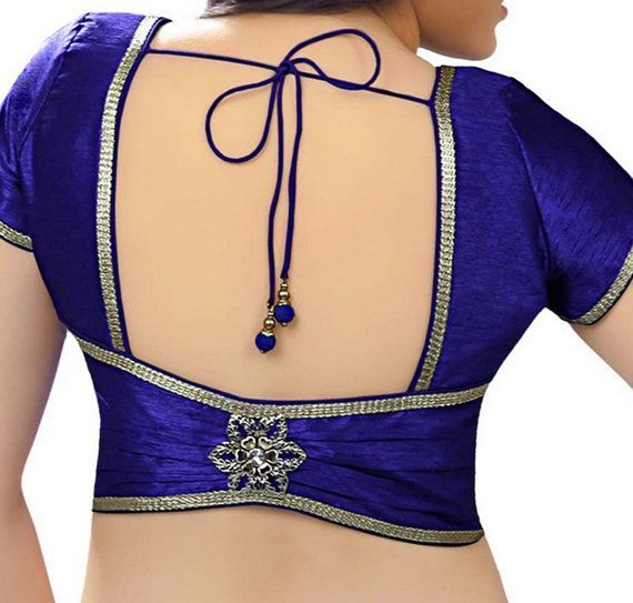 Designer Duion Silk Patch  Work Saree Blouse, Jari Border Sari Blouse, Indian Saree Blouse, Saree Top, Choli, Blue Saree Blouse - long sleeve blouse dress, misses blouses, casual blouses for ladies *sponsored https://www.pinterest.com/blouses_blouse/ https://www.pinterest.com/explore/blouse/ https://www.pinterest.com/blouses_blouse/white-blouse/ https://www.amazon.com/Womens-Shirts/b?ie=UTF8&node=2368365011