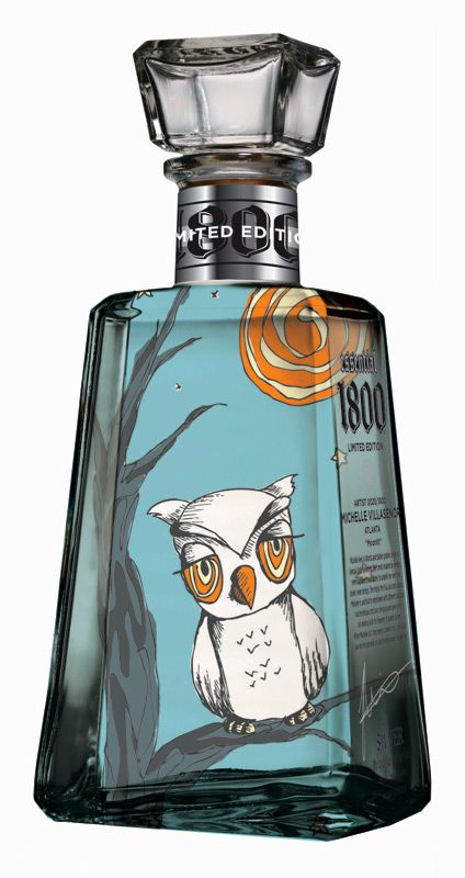 1800 Tequila Essential Artists. I'd drink tequila for the owl bottle!