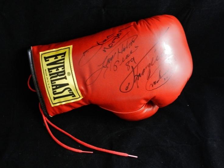 Boxing Glove Signed by Muhammad Ali Ken Norton Larry Holmes and Joe Frazier | eBay