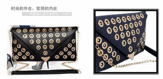 Unique design clutch in black only !