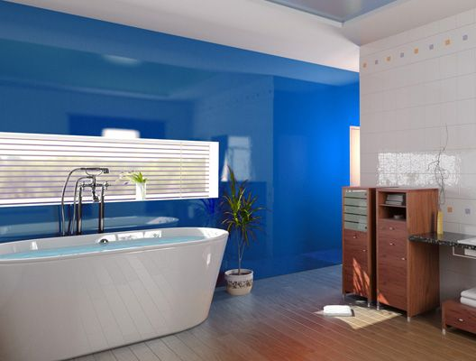 Splashbacks Of Distinction   Glass Bathroom Splashbacks