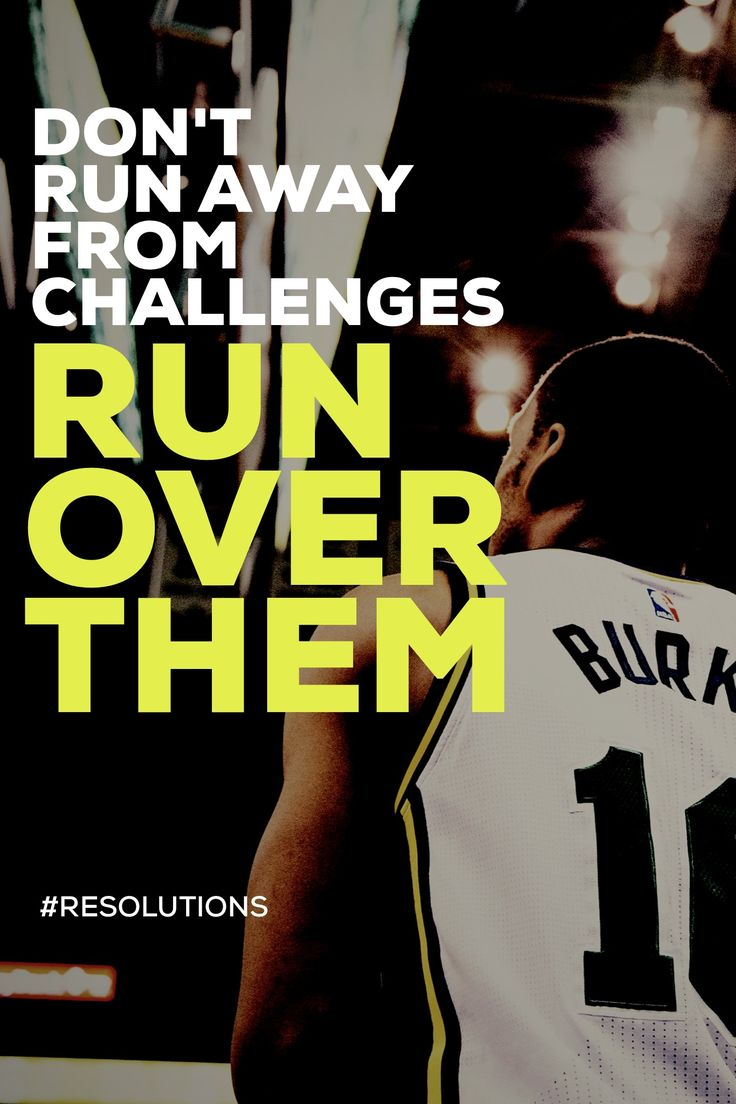 Don't run away from challenges. Run over them.  #madewithover #resolutions