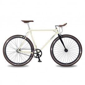 Bicicletta Uomo Scatto Fisso - Crema