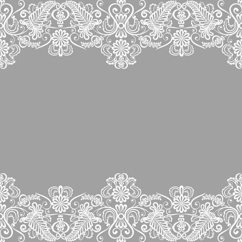 Simple lace art background vector 02