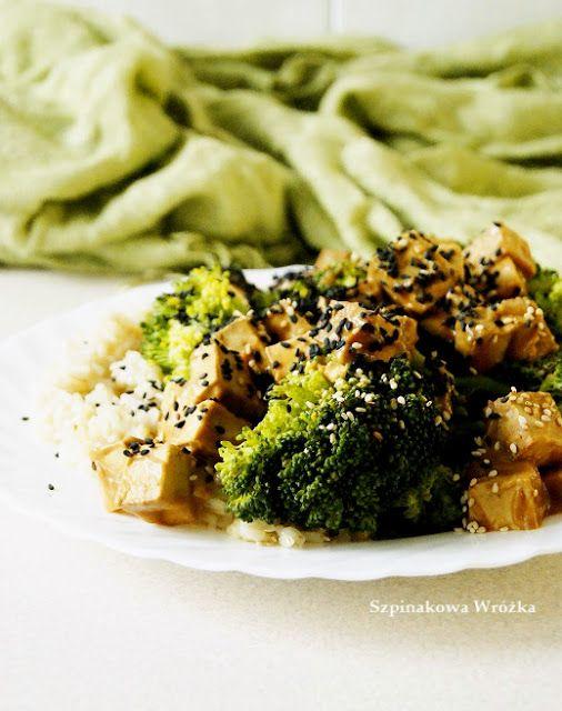 Tofu #miso z brokułami i ryżem | #vegan tofu miso with broccoli ...