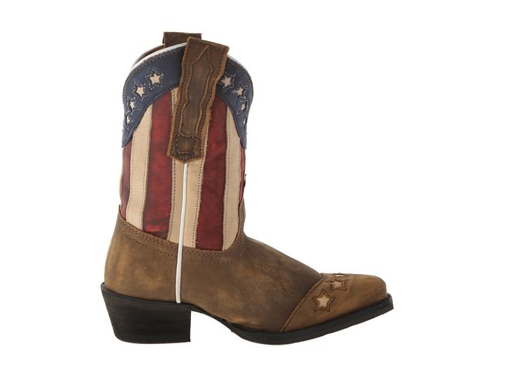 Dan Post Kids Lil' Liberty (Toddler/Little Kid) Cowboy Boots Red/White/Blue