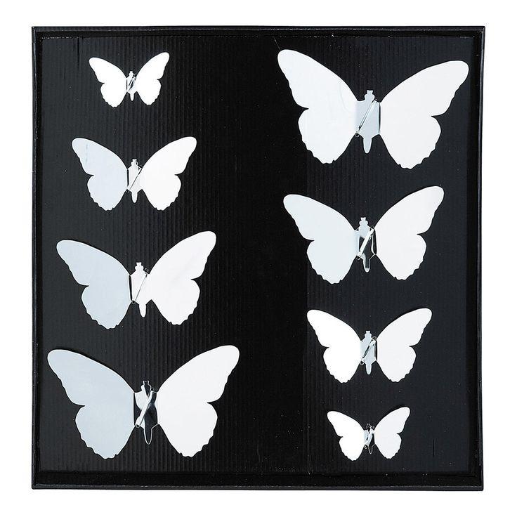 8 stickers miroir BUTTERFLY