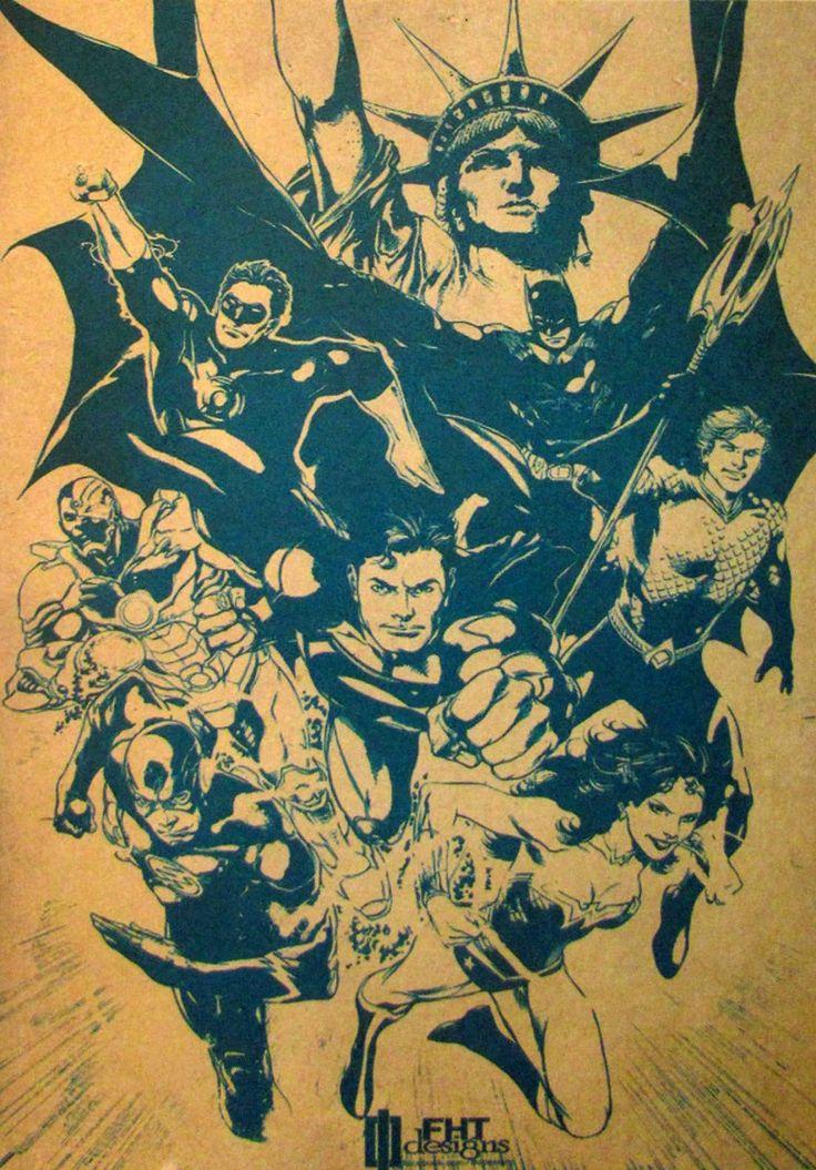 Постер к фильму Лига Справедливости :: Интернет-магазин дизайнерских постеров
