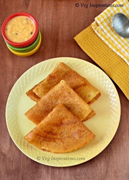Oats Adai ~ Dhal dosa with oats ~ Savory Indian crepes with lentil and oats | Veg Inspirations