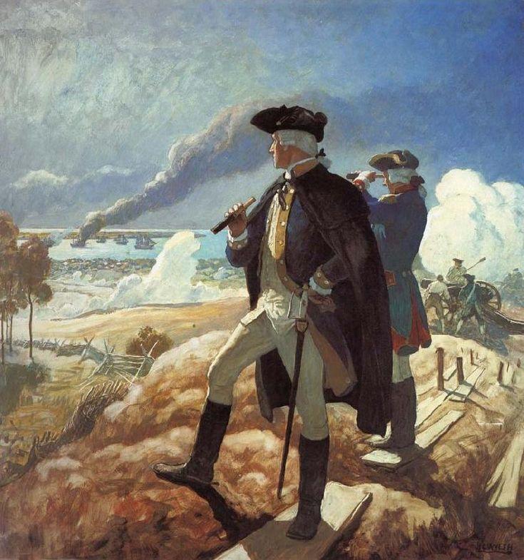 """""""George Washington at Yorktown"""" by N C Wyeth"""