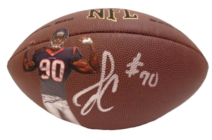 Houston Texans Jadeveon Clowney signed NFL Wilson full size football w/ PSA/DNA authentication. Free USPS shipping. www.AutographedwithProof.com is your one stop for autographed collectibles from South Carolina Gamecocks & NCAA sports teams. Check back with us often, as we are always obtaining new items.