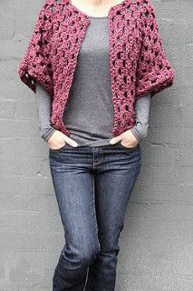 Crochet granny shrug. Follow link for pattern