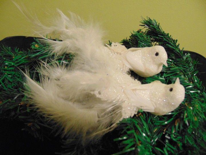 Bombka Ptak Ptaszek Bialy Ozdoby Choinkowe 7057550439 Oficjalne Archiwum Allegro Christmas Ornaments Novelty Christmas Holiday Decor
