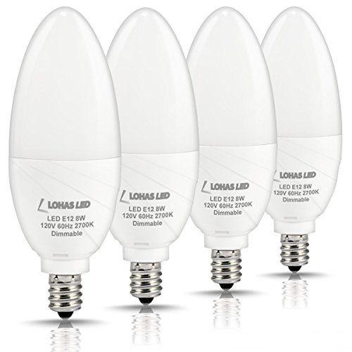 LOHAS Candelabra Bulb, Dimmable LED 75watt Light Bulbs Equivalent(8W LED), Warm White 2700K, 750LM, E12 Base Chandelier Ceiling Fan Lamps for Home Lighting Bulbs(4 Pack) #LOHAS #Candelabra #Bulb, #Dimmable #watt #Light #Bulbs #Equivalent(W #LED), #Warm #White #Base #Chandelier #Ceiling #Lamps #Home #Lighting #Bulbs( #Pack)