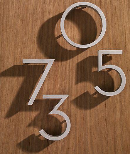 "DWR Neutra House Numbers. replicate the 1930's original design 4""  Design Within Reach. Aluminum black or red."