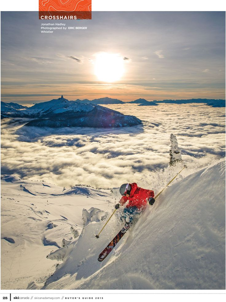 photo: ERIC BERGER skier: Jonathan Hadley snow: Whistler  BC  from Buyer's Guide 2015 issue