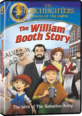 Torchlighters: The William Booth Story - Christian Film/Movie on DVD. Watch as William's rag tag band of followers marches into the East End with Bibles and Prayer as the weapons of choice. An inspiring story for children and parents alike! http://www.christianfilmdatabase.com/review/torchlighters-the-william-booth-story/