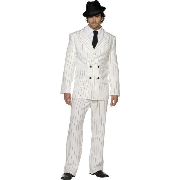 Fever Gangster Costume, White