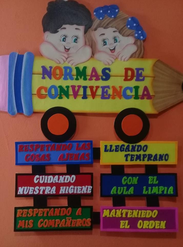 Cartel Normas De Convivencia Transportation Crafts Classroom Decor Banners School Decorations