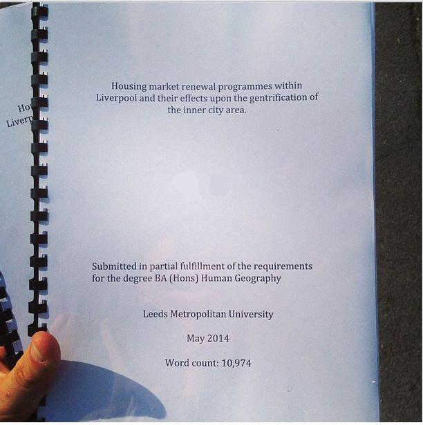 Dissertation means