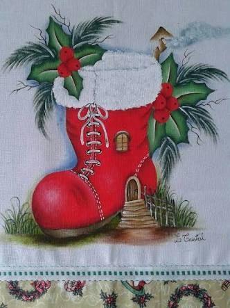 Resultado de imagem para figuras de natal para pintar em tecido
