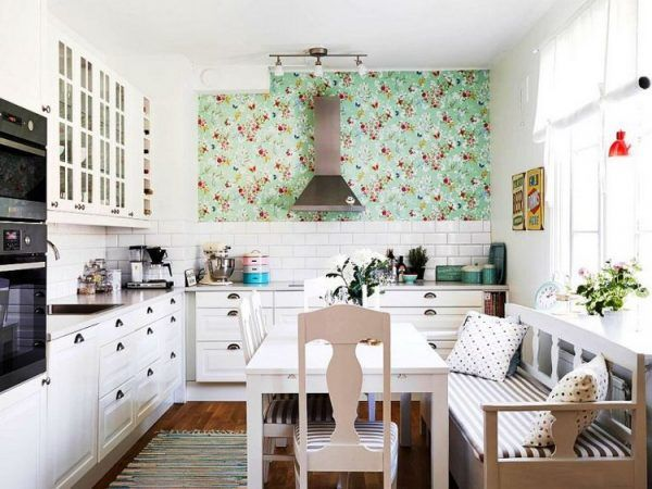 Schone Kuche Wallpaper Ideen Fur Jeden Einrichtungsstil 30 Inspirationen Kuchentapete Haus Kuchen Haus Deko