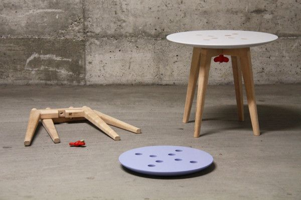 Stool & Table Thats Easy to Disassemble & Move