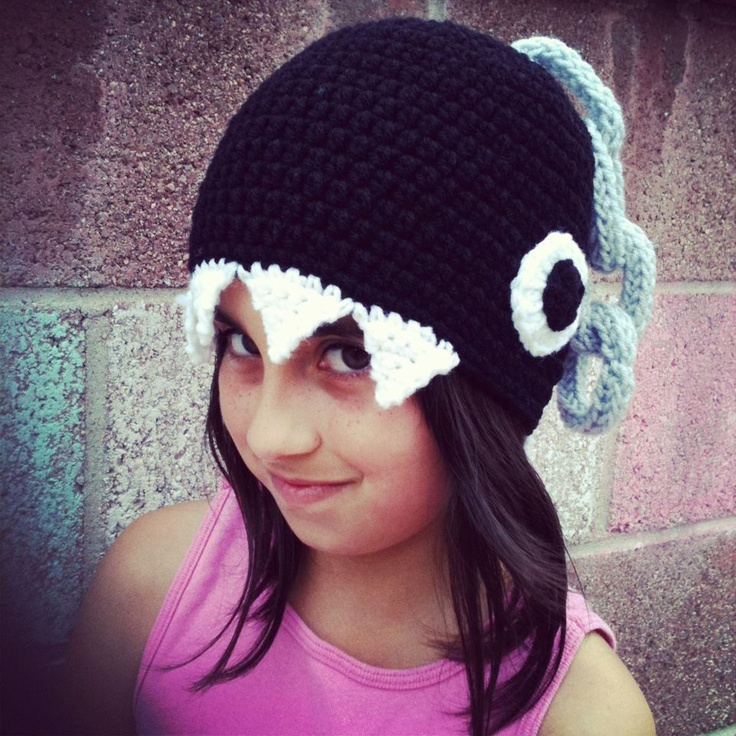 Crochet Super Mario Bros. Chain Chomp Beanie Hat - I need to make these for the kiddos (ok, myself...) ASAP!!