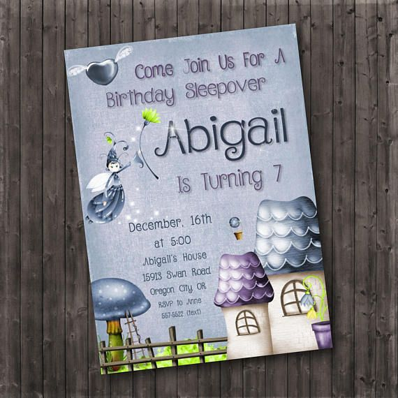 160 best Birthday party invitations images on Pinterest - best of birthday invitations sleepover party