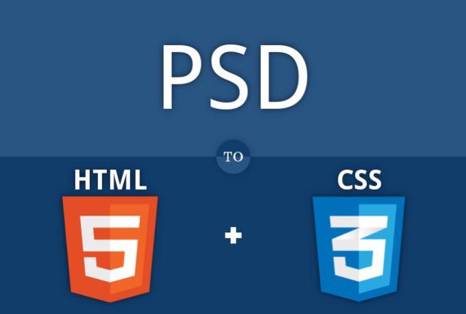 convert PSD to HTML5, CSS3 by dominicsaviof
