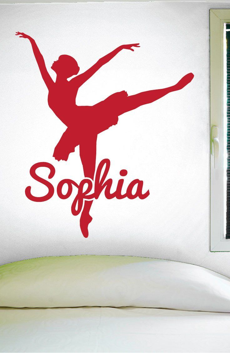 Tree wall decals large personalized family tree decal vinyl wall decal - Custom Dance Name Wall Decal 0126 Personalized Dance Name Wall Decal Girls Dance