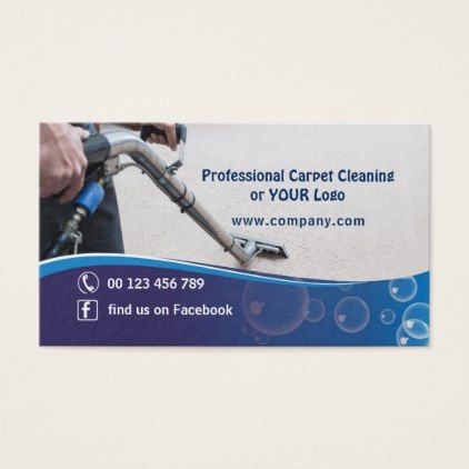 Business card for Cleaning Carpet Company - professional gifts custom personal diy