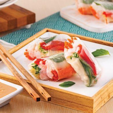 Rouleaux de printemps aux crevettes et basilic thaï - Recettes - Cuisine et nutrition - Pratico Pratique