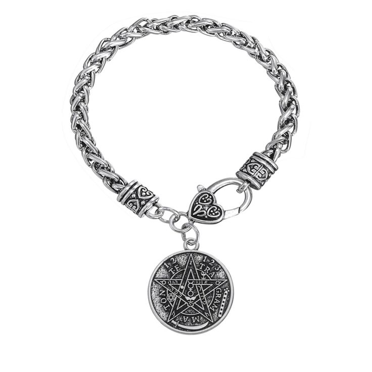 Find More Chain & Link Bracelets Information about Whole Sale Pagan Tetragrammaton Pentagram Pentacle Male Bracelet Men Wiccan Jewelry,High Quality jewelry dropshipper,China jewelry cord Suppliers, Cheap jewelry pocket from Talisman Jewelry Factory on Aliexpress.com
