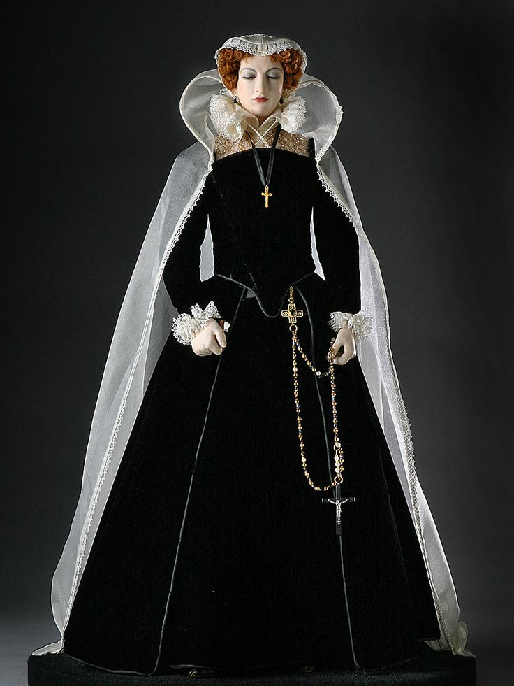 Mary Stuart, popularly known as Mary, Queen of Scots.: History Dolls, Dolls Fashion, Queen Mary, Mary Queen, Mary Stuart, Fashion Dolls, Barbie, George Stuart, Doom Queen