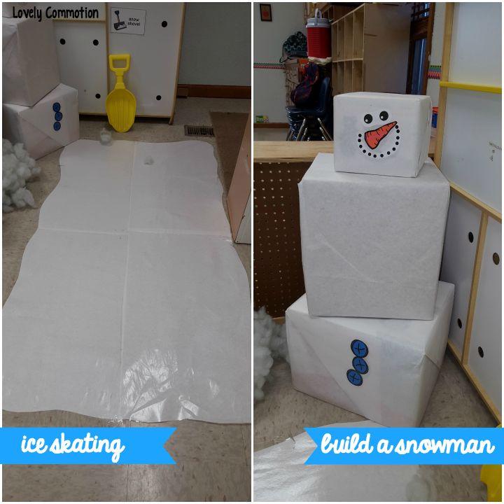 An indoor ice skating rink for preschoolers!