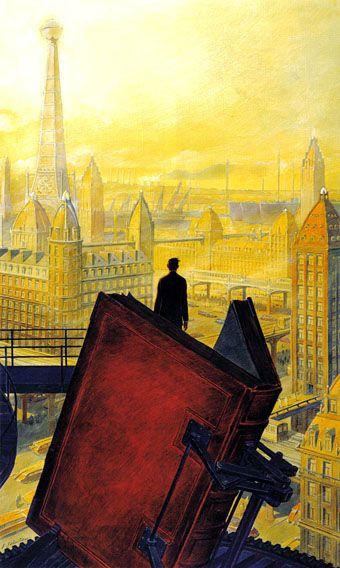 """""""Paris au XXieme Siecle by Jules Verne (1994)"""" by François Schuiten"""