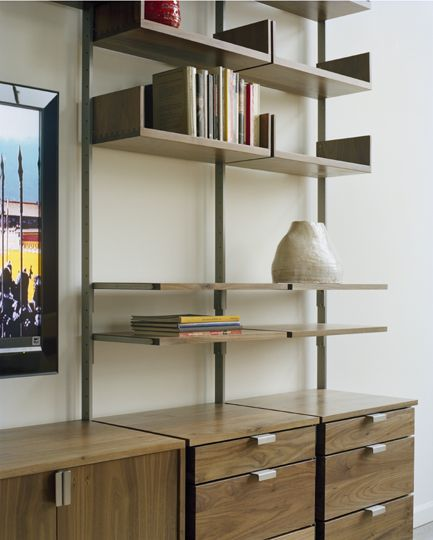 The As4 Modular Furniture System Detail Of Home Office With Desk, Pencil  Drawers, Cabinet