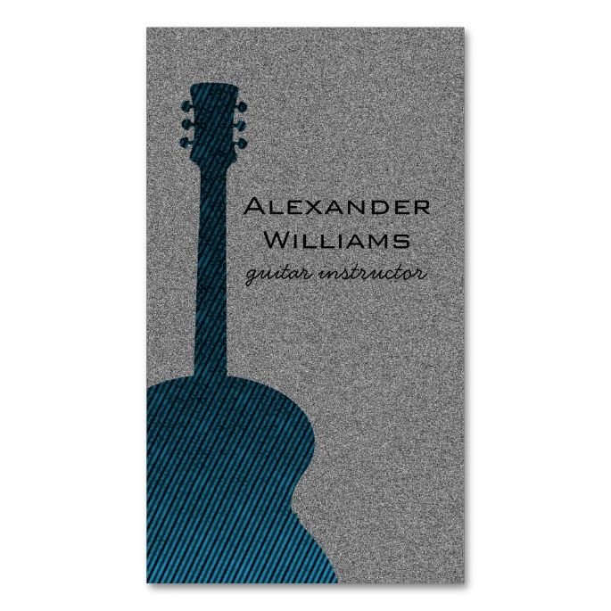 Striped Guitar Music Business Card, Blue Double-Sided Standard Business Cards (Pack Of 100). I love this design! It is available for customization or ready to buy as is. All you need is to add your business info to this template then place the order. It will ship within 24 hours. Just click the image to make your own!
