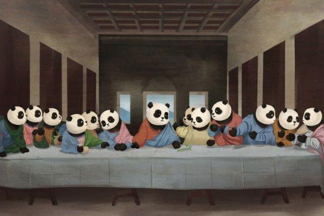 Isto E O Que Acontece Quando Pandas Invadem 12 Obras De Arte Com